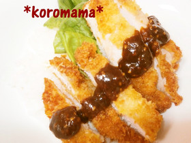 鶏ムネ肉の味噌カツ丼☆美味しすぎ~♪