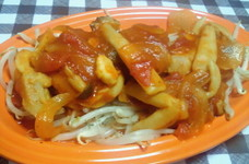 トマト缶で☆簡単♪チキンのトマト煮込み