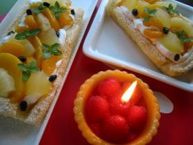 お誕生日にフルーツパイはいかが♪