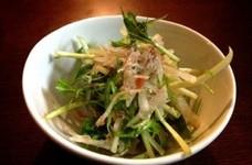 水菜と大根の梅ジャコサラダ