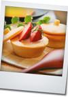 イチゴのクリームのサクサク・カップサブレ
