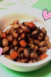 お弁当に♪節分豆&塩昆布の煮豆の写真