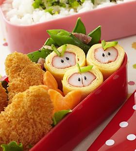 カニカマりんごの卵焼き