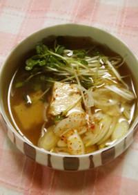 厚揚げの和風スープ