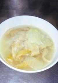 出し昆布塩麹鶏出し汁絶品白菜と平天煮付け