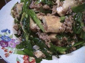豆腐とニラの牡蠣油炒め
