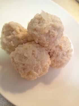 *高野豆腐のふんわり鶏団子