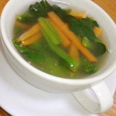 とろ~りあったか♪ほうれん草と人参スープ