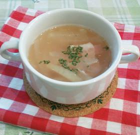大根とベーコンの塩麹コンソメスープ