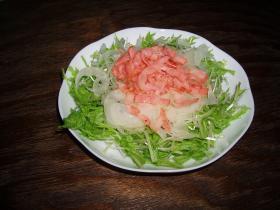 水菜のフレンチサラダ