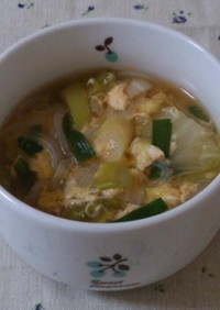 マロニーキムチスープ