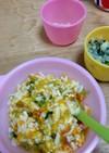 離乳食中期☆鶏挽肉と彩り野菜のおうどん