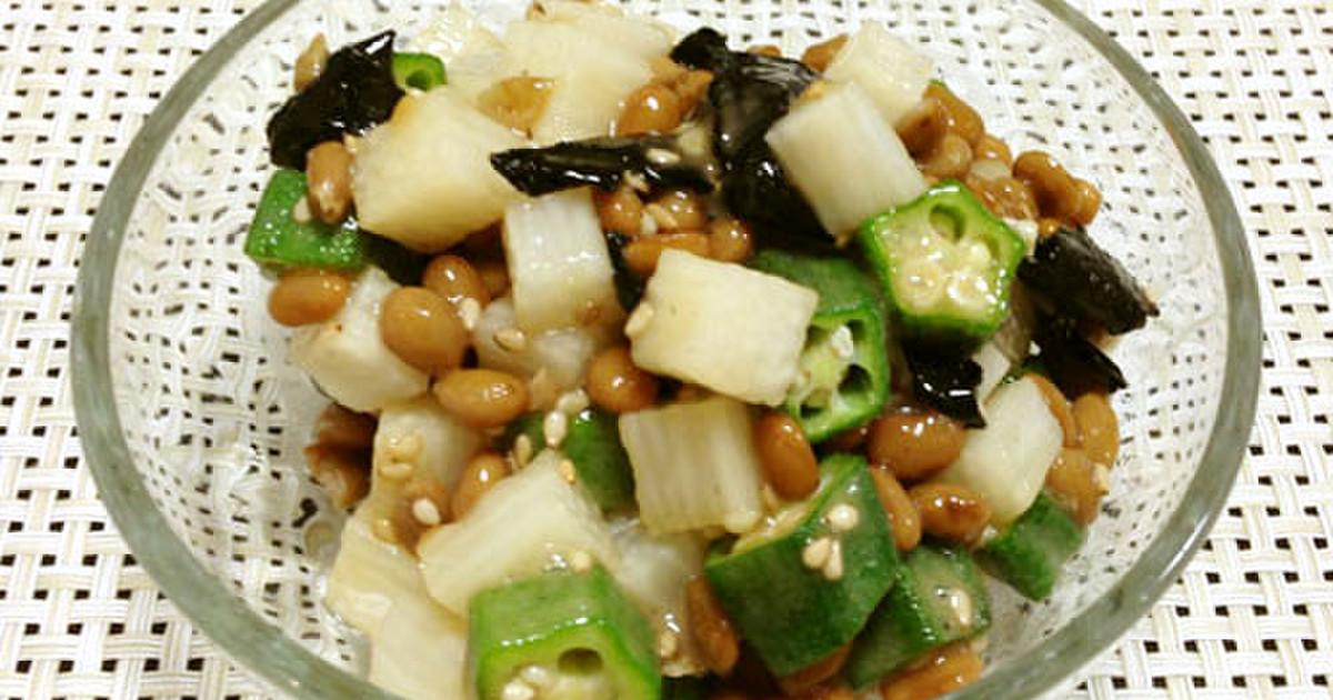 長芋 納豆 オクラ