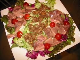 【魚】 カツオの刺身サラダ♪マリネ風