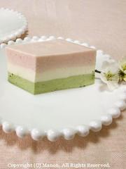 ひな祭り♥簡単3色レアチーズケーキの写真