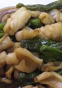 イカとしし唐の炒め物
