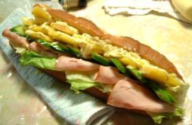 ジャガイモのバケットサンドイッチ
