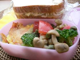キャベツのサンドイッチのお弁当
