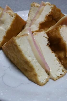 チンするだけ!厚揚げのハムチーズ