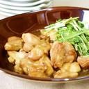 ☸水菜と鶏もも肉のすき焼き風煮☸