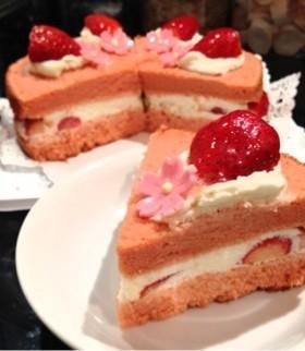 ひな祭り♡苺のショートケーキ