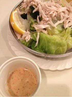 温野菜に!セブンの野菜スティックソース風