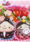 ドットが可愛い♡コロコロ雛祭り*キャラ弁