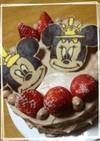 ミッキー&ミニーちゃんひな祭りケーキ♡