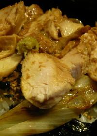鶏むね肉の焼き鳥丼