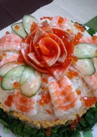 ボウルでケーキ寿司
