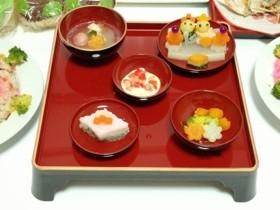 雛祭り桃の節句離乳食御膳(中期〜)