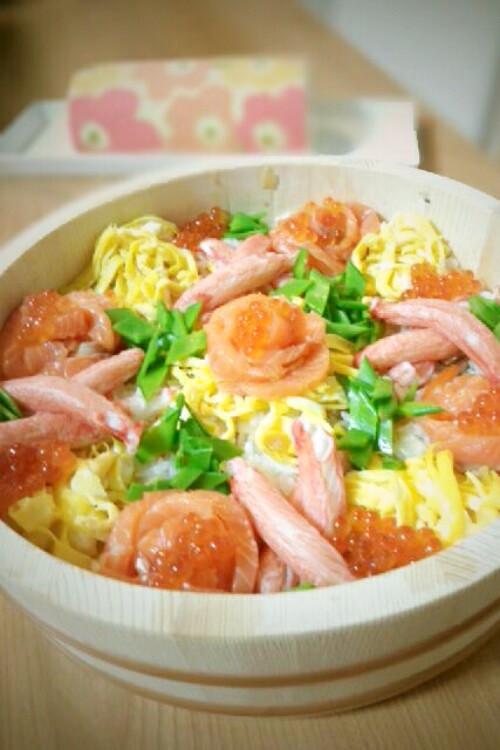ひな祭り☆盛るだけキラキラ雛ちらし寿司
