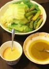 とっても簡単、温野菜のソース二種