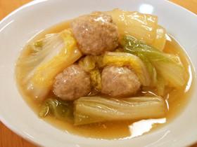 白菜&肉団子のあんかけ煮