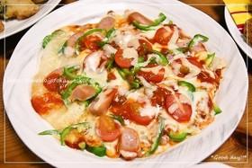 フライパンで超簡単!美味しい☆おもちピザ