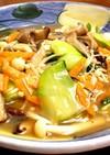 青梗菜ときのこの中華炒め