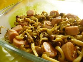 ♡魚肉ソーセージとしめじのカレー味マリネ