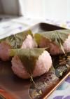 桜餡入り桜餅♪