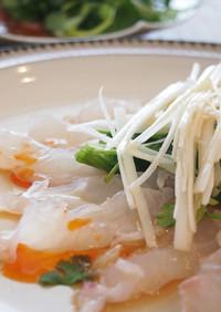 真鯛の中華風カルパッチョ