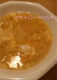 中華* 白菜と卵のふわとろスープ