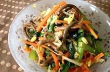 小松菜と豆もやしナムル