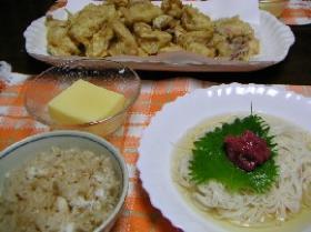 簡単鯛めし(写真左)