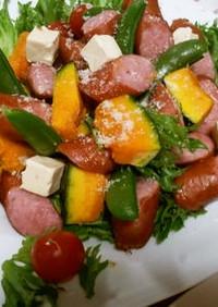 彩り、温野菜サラダ