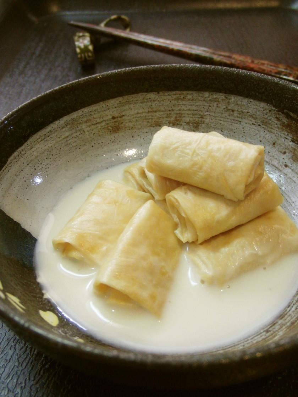 低糖質*豆乳を凝縮*湯葉風の大葉巻き