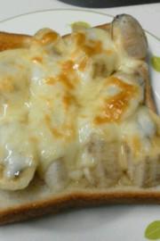 ハニーバナナトーストの写真