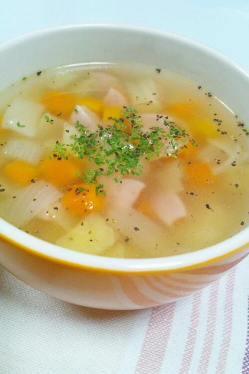 具沢山も!簡単❤和洋折衷の野菜スープ