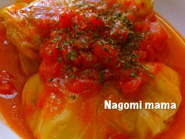 *トマトで煮込んだロールキャベツ*