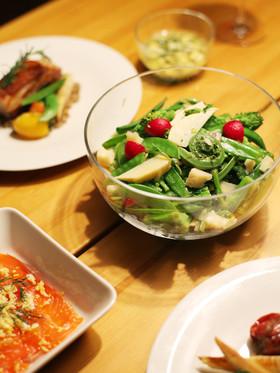 春野菜とアンチョビ、パルミジャーノサラダ