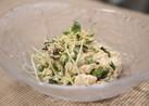 簡単まぜるだけ!豆腐と貝割れ大根のサラダ