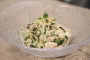 簡単まぜるだけ!豆腐と貝割れ大根のサラダの写真